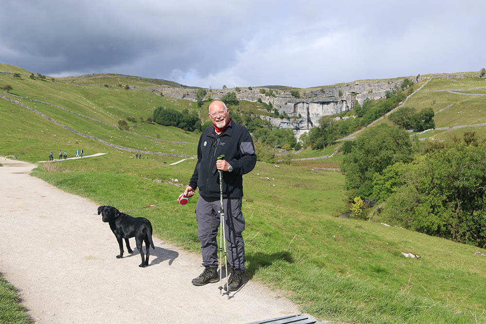 Tim Barber Walking His Dog in Ingleborough