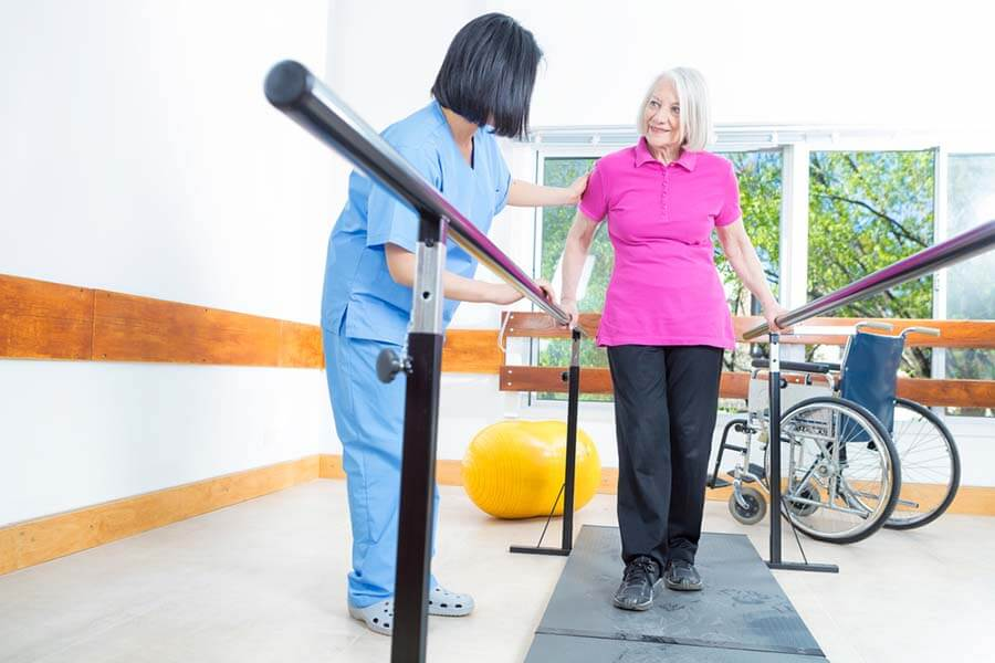Lady Having Physio After Knee Replacement