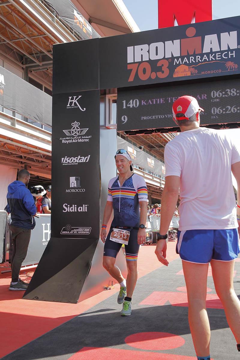 Kevin Heath Finishing Ironman 70.3 in Marrakech