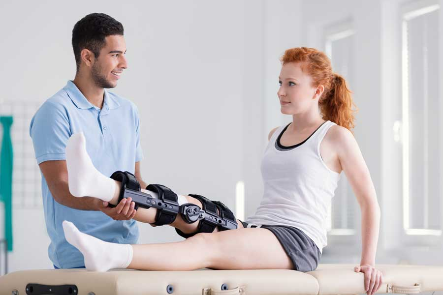 ACL knee brace non-surgical treatment