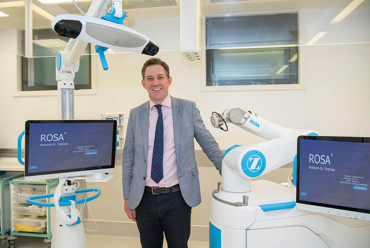 Dave Duffy Stood with ROSA Robot